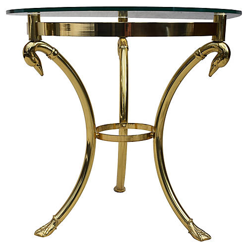 Brass & Glass Hollywood Regency Table