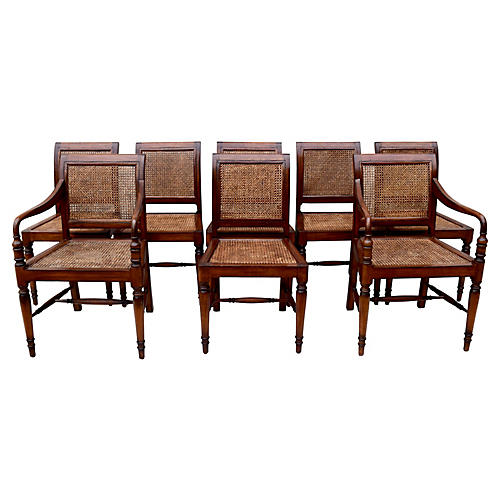 Regency-Style Dining Chairs, S/8