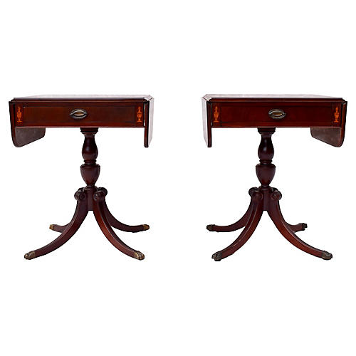 Mahogany Pembroke Tables, Pair