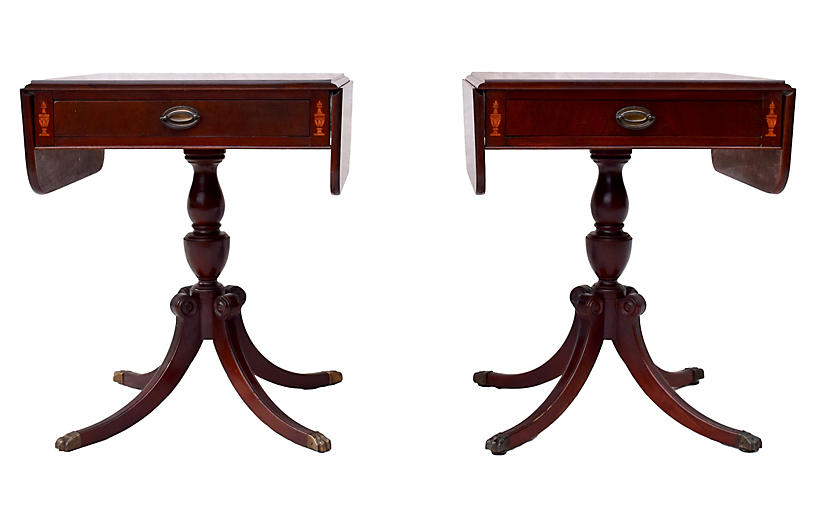 Mahogany Pembroke Tables, Pair