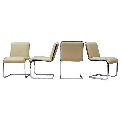 Milo Baughman Dining Chairs, Set/4