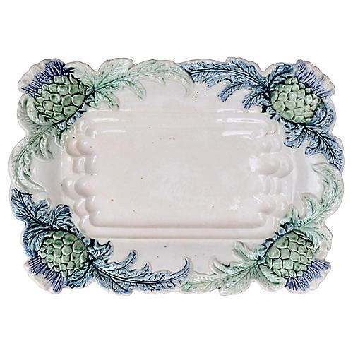 Majolica French Barbitone Platter