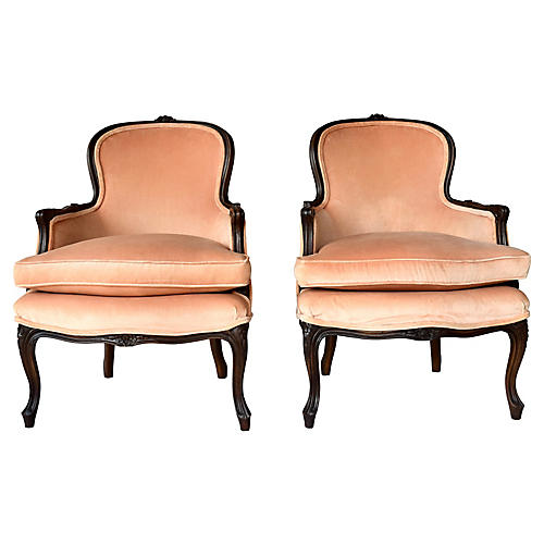 Antique Louis XV Style Bergere Chairs