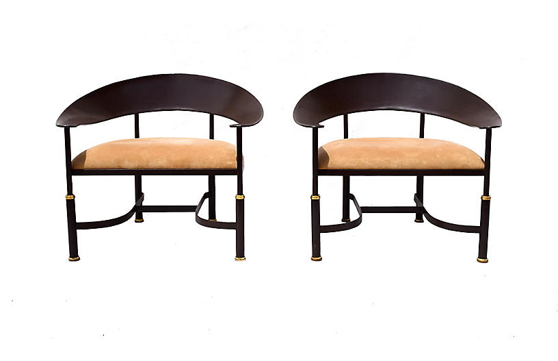 Modern Italian Pateo Chairs, S/2