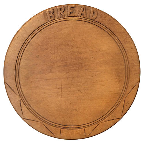 English Hand-Carved Bread Board