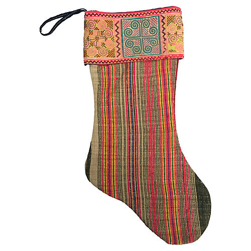Hmong Textile Christmas Stocking
