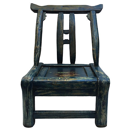 Chinese Indigo Chair