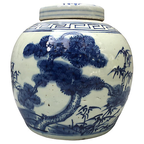 Bamboo Tree Ginger Jar