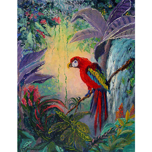 Tropical Parrot by Rose Rettig