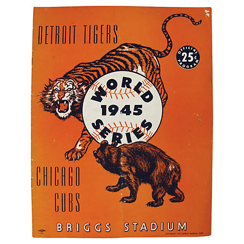 1945 World Series Tigers & Cubs Program