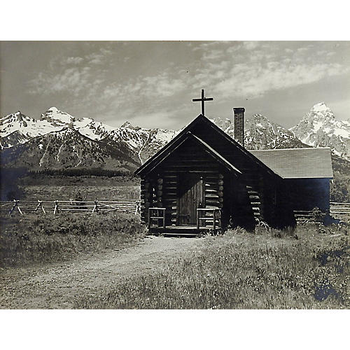 1950s Grand Teton's Log Chapel Photo