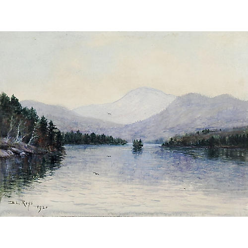 Serene Blue Lake, 1920
