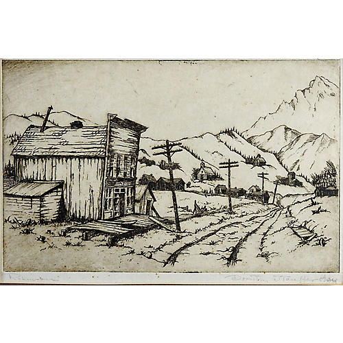 Colorado Ghost Town Etching