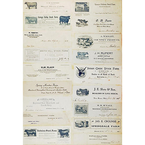 Collection of Antique Farm Graphics