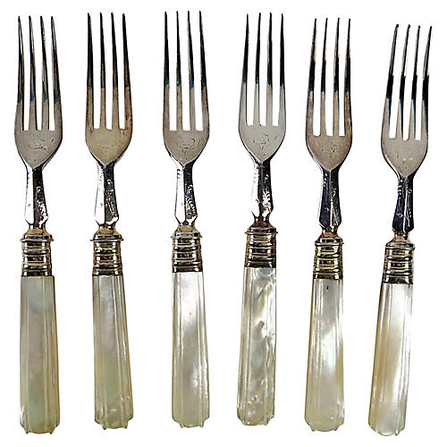 1920s Mother-of-Pearl Forks, S/6