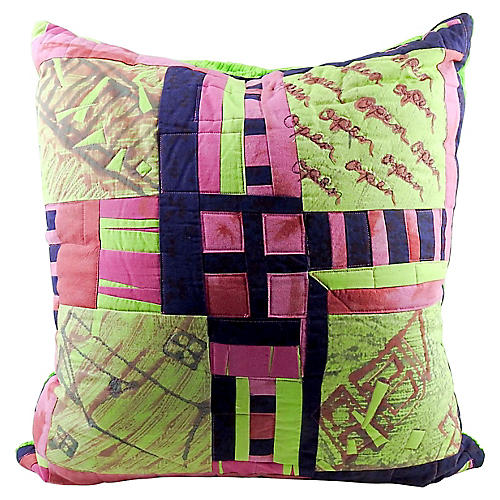 Abstract Quilted Pillow