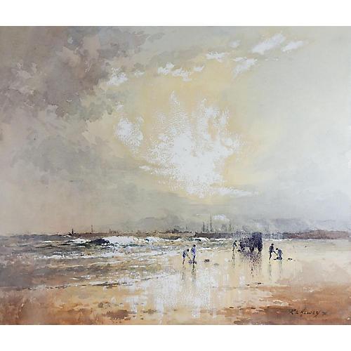 Sunrise Beach Scene by Robert Howey