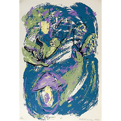 Abstract Angels Serigraph