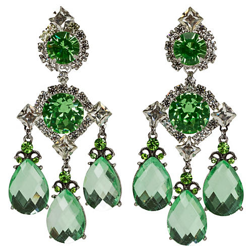 Vrba Green Drop Earrings