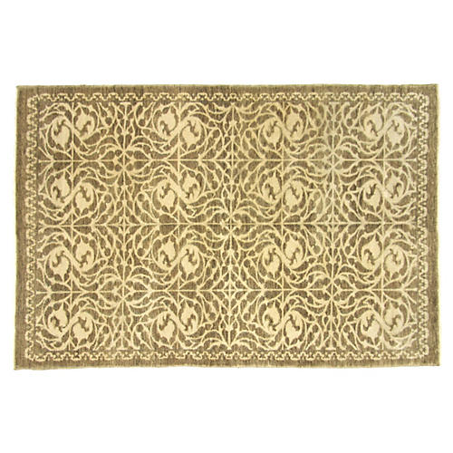"Turkish Art Deco Rug, 5'4"" x 8'1"""
