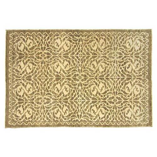"""Turkish Art Deco Rug, 5'4"""" x 8'1"""""""