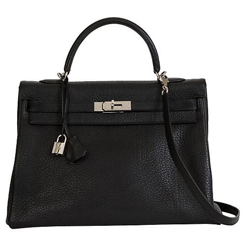 Hermès Kelly Black & Palladium Bag