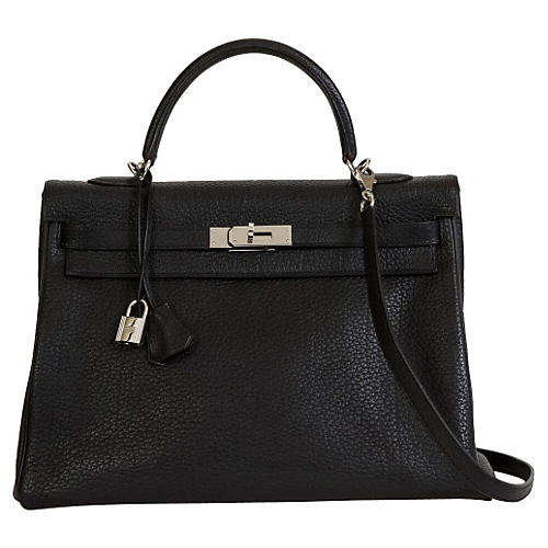 Hermès Kelly Black & Palladium Bag