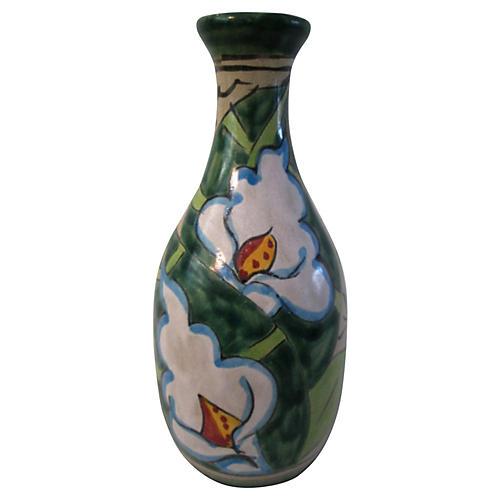 Mexican Talavera Lily Vase
