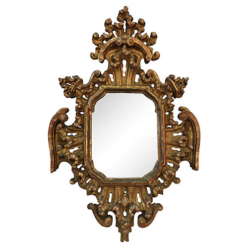 19th-C. Baroque-Style Giltwood Mirror