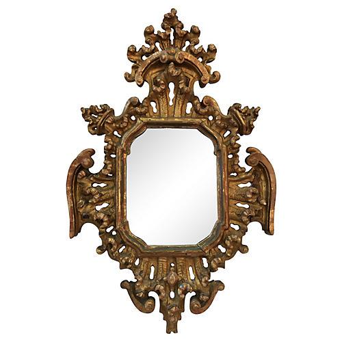 19th-C. Baroque-Style Giltwood Mirror