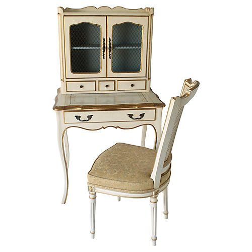 French-Style Desk & Chair