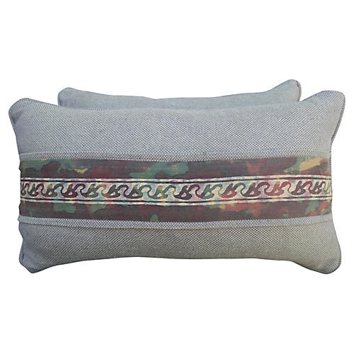Fortuny Border Lumbar Pillow
