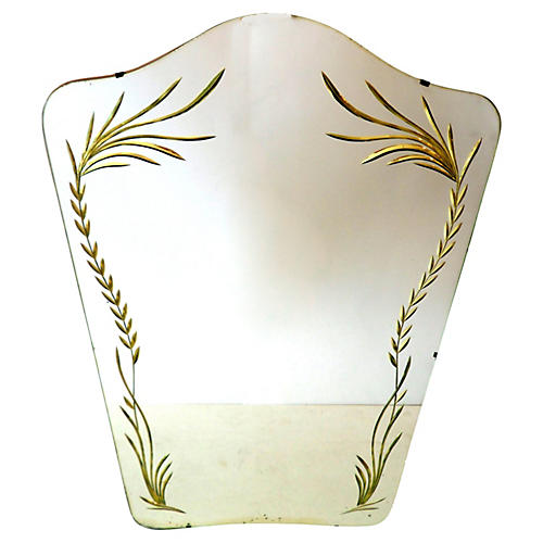 Italian Shield Mirror