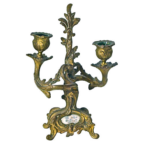 Antique Louis XV-Style Candleholder