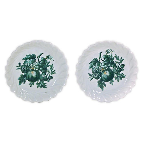 Porcelain Limoges Fruit Dishes, Pair