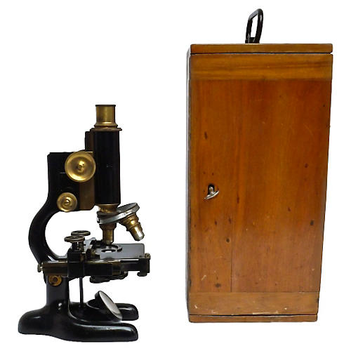 Bausch & Lomb Antique Microscope & Case