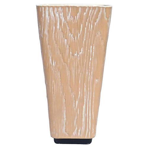 Midcentury Shawnee Faux Bois Vase