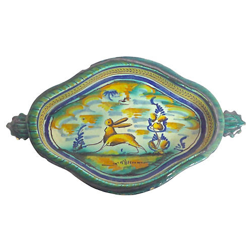 Italian Ceramic Rabbit Dish