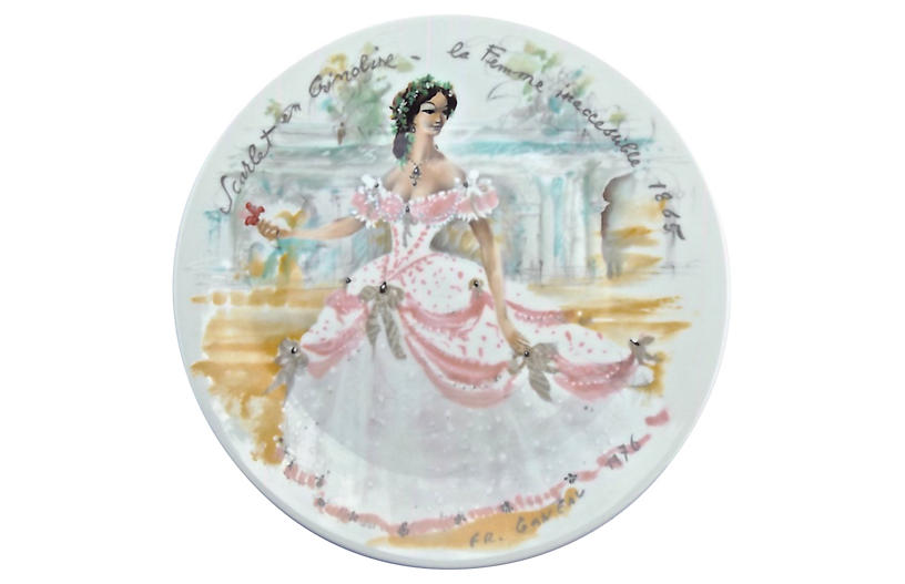 French Porcelain Fashion Plate