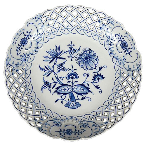 Meissen Porcelain Pierced Floral Bowl
