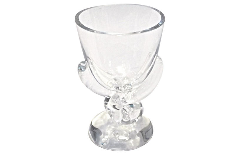 Art Deco Steuben Crystal Vase Vermilion Top Vintage Dealers