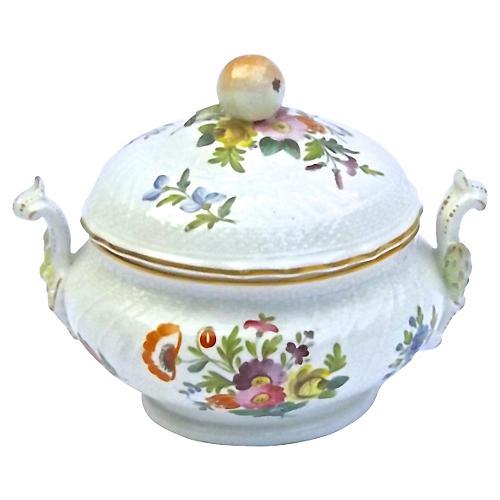 Antique Porcelain Floral Lidded Tureen