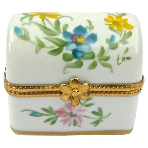 Porcelain Floral Trunk Limoges Box