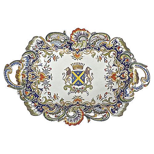 Antique Heraldic Coat of Arms Platter
