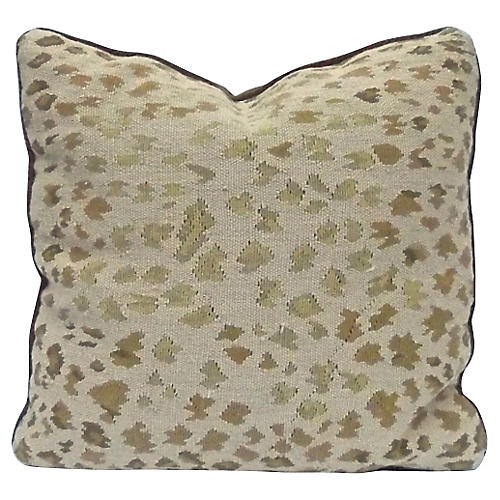 Needlepoint Leopard Pattern Pillow