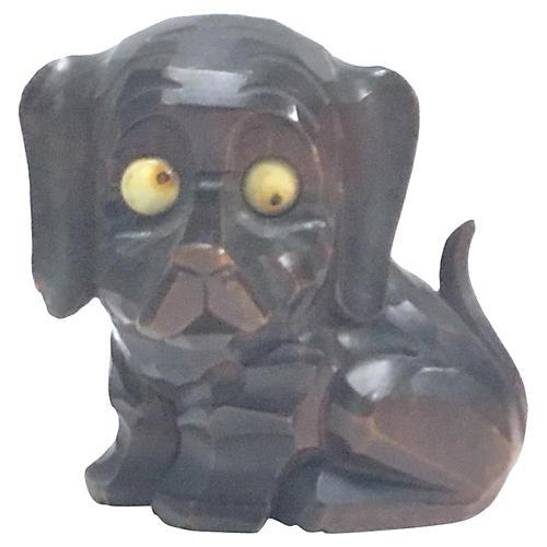 Black Forest Googly Eyed Dog Clock