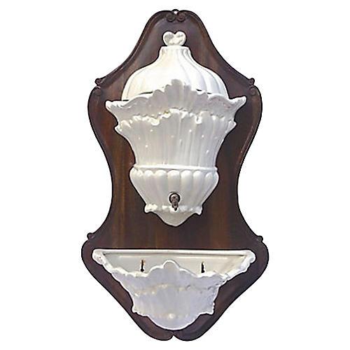 Italian Acanthus Ceramic Lavabo, 4 Pcs