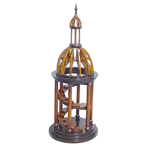Large Wood Cupola Model