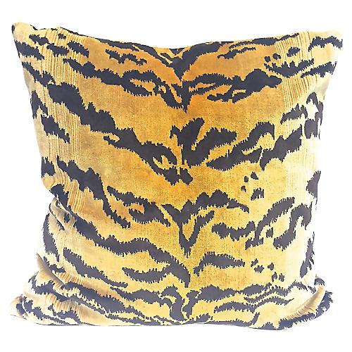 Tiger Velvet Pillow