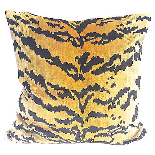 Tiger Velvet Pillow
